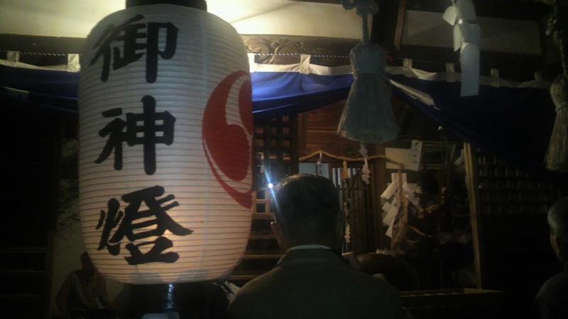 奥谷神社神楽舞い